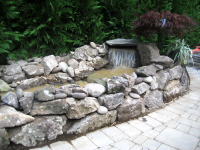 Pond and waterfall installation